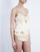 Carine Gilson Florence lace and silk-satin camisole