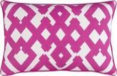 Liggett Large Zig Zag Linen Lumbar Pillow Ebern Designs Color: Hot Pink/Ivory