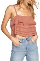 Amuse Society Women's Hayes Ruffle Crop Top
