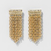 BaubleBar SUGARFIX by Chain Tassel Drop Earrings - Clear
