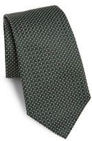 Armani Collezioni Stippled Pattern Silk Tie