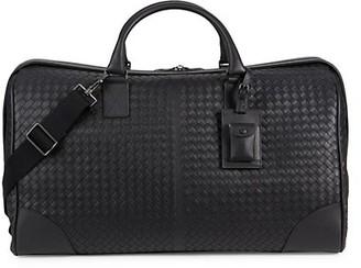 Bottega Veneta East-West Leather Duffel Bag