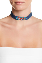 Free Press Seed Bead Denim Choker