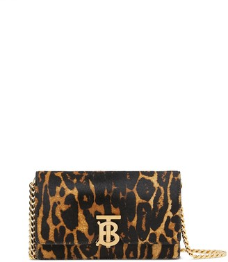 Burberry Small Leopard Print Shoulder Bag