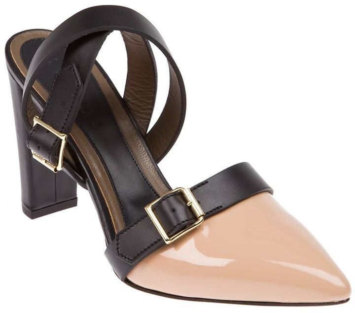 Marni strappy pointed toe mule