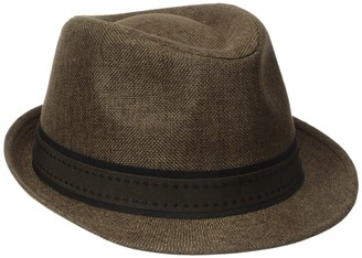 Henschel Hats Henschel Men's Low Crown Fedora with Fancy Stitch Band and Loop