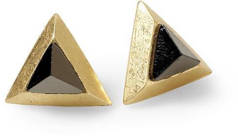 Rachel Roy Hive & Honey Triangle Stud Earring