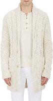 John Varvatos Men's Nubby Cable-Knit Cardigan-WHITE