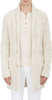 John Varvatos MEN'S NUBBY CABLE-KNIT CARDIGAN