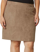 Junarose Plus Emerson Faux Suede A-Line Skirt