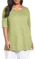 Eileen Fisher Plus Size Women's Organic Linen & Cotton Tunic