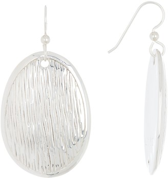 Simon Sebbag Sterling Silver Textured Oval Drop Earrings
