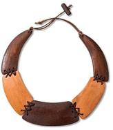 Hudson Moon Women's Hudson Moon® Wooden Statement Necklace