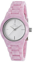 Clyda CLA0520SWIX Women's Light Pink Acetate White Dial Silver-Tone Accents