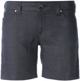 Armani Jeans cargo shorts - women - Linen/Flax - 26