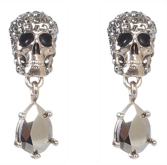 Alexander McQueen Skull Earrings With Stones