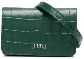 Juun.J Crocodile Effect Belt Bag
