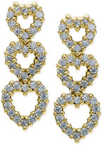 Giani Bernini Cubic Zirconia Triple Heart Drop Earrings in 18k Gold-Plated Sterling Silver, Only at Macy's