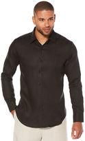 Cubavera 100% Linen Long Sleeve Tuck Shirt