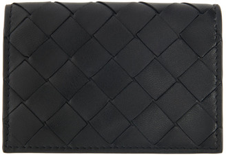 Bottega Veneta Black Intrecciato Small Card Holder
