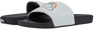 Vans Kids Slide-On (Big Kid) (Rainbow/True White) Girl's Shoes