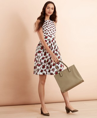 Brooks Brothers Floral-Print Cotton Sateen Dress