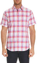 Robert Graham Torres Short-Sleeve Warped Plaid Shirt