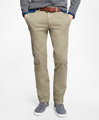 Brooks Brothers Slim-Fit Garment-Dyed Stretch Chinos