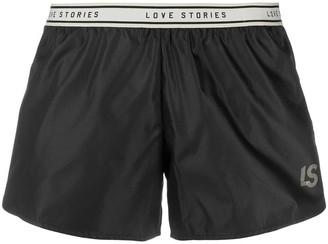LOVE Stories Logo-Waistband Pyjama Shorts