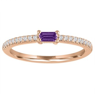 My Story Julia Amethyst Rose Gold Ring