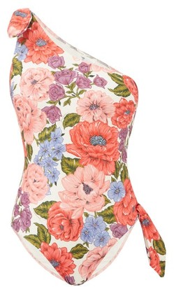 Zimmermann Poppy Cutout Floral-print Swimsuit - White Print