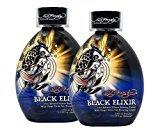 Ed Hardy Lot 2 Black Elixir Indoor Tanning Lotion Accelerator Bronzer Dark Tan