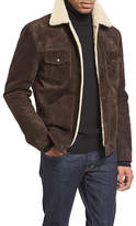 Tom Ford Shearling-Lined Suede Jacket, Chocolate Brown