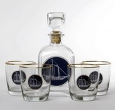 The Well Appointed House Americas Cup Decanter Set with Four Tapered Old Fashioned Glasses - ONE IN STOCK IN OUR GREENWICH, CT STORE FOR QUICK SHIPPING