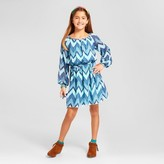 Lots of Love by Speechless Girls' Chevron Print Peasant Dress - Blue