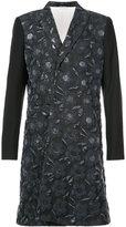 Comme des Garcons floral patterned asymmetric coat