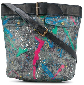 Moschino Pre Owned 2000s Paint Splatter Shoulder Bag