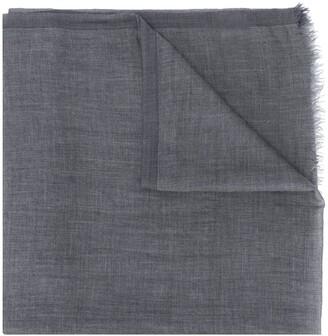 Brunello Cucinelli frayed trim scarf