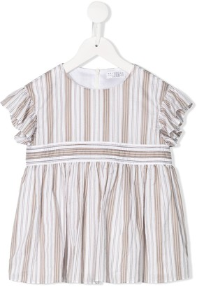 BRUNELLO CUCINELLI KIDS Striped Print Blouse