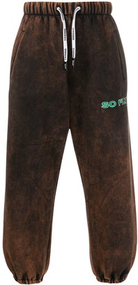 Duoltd So Fly bleached-effect sweatpants