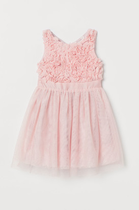H&M Glittery Tulle Dress - Pink