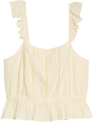 BP Eyelet Ruffle Top