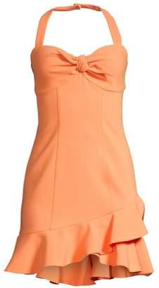 LIKELY Reyn Ruffle Halterneck Dress