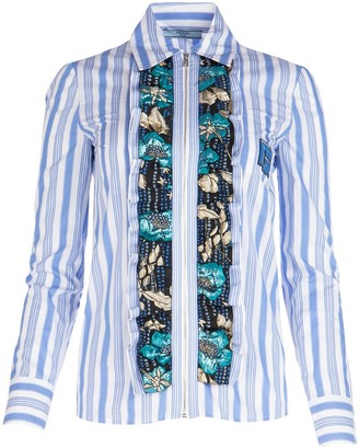 Prada Ruffled Front Shirt
