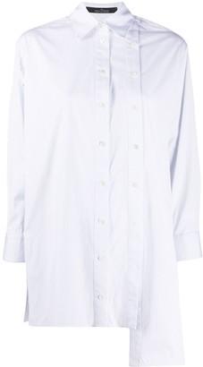 Rokh Asymmetric Pinstripe Shirt