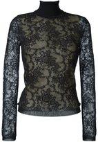 Oscar de la Renta floral lace blouse