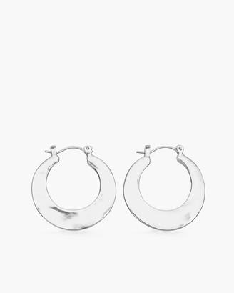 Chico's Hammered Silver-Tone Hoop Earrings