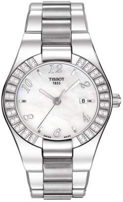 Tissot Women's Glam Sport Quartz Swiss Stainless Steel Watch, 49mm