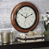 Asstd National Brand FirsTime Walnut Round Whisper Wall Clock