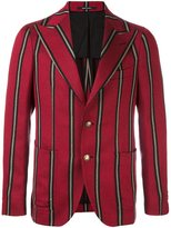 Tagliatore striped two button blazer